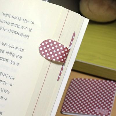 [플라스틱 and 자석 자동책갈피수지인] 화이트닷