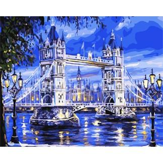 DIY 명화그리기 - DIY  런던브릿지 (GX7336) 40x50 그림 (유화/그림그리기/직접그리기/아크릴/취미/색칠)