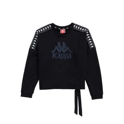 카파 222반다 사이드라인 숏 맨투맨 블랙 KJRL351FN
