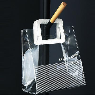 PVC 방수 비닐 투명 숄더백 토드백 비치백 여름가방