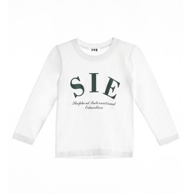 [교복아울렛] 화이트 SIE 면T (긴팔) 티셔츠