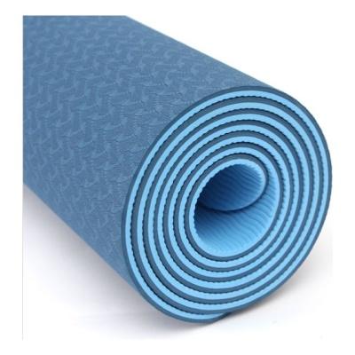 천연고무소재 TPE 요가매트 6mm 양면컬러 블루