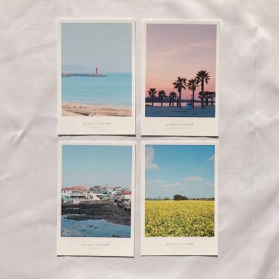 메리필름 제주도 폴라로이드 여행 엽서 set (4장)