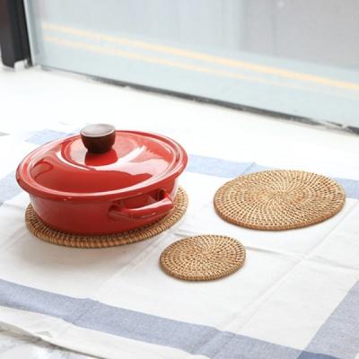 라탄 원형 3size 냄비받침 컵코스터 티코스터