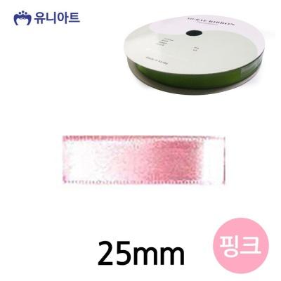 (리본) 6000 공단 리본 25mm (핑크