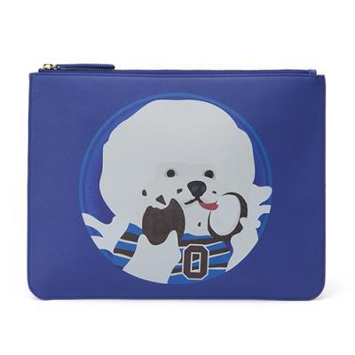 [매니퀸x비욘드클로젯] 클러치백 - COOKIE DOG LEATHER CLUTCH BLUE