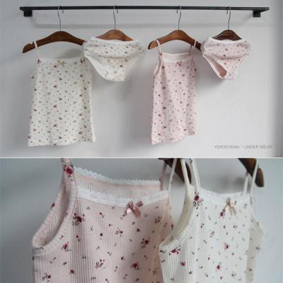 (SET)와인꽃속옷세트
