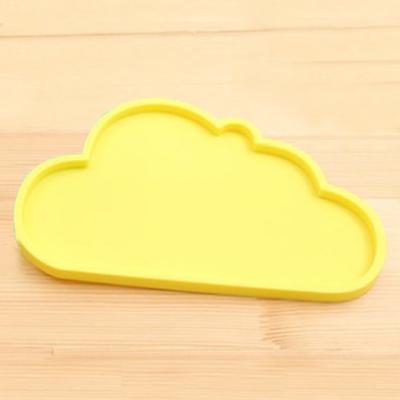 구름 실리콘 컵받침 쟁반