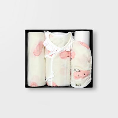 [메르베]납작복숭아 여름출산선물(저고리+속싸개+모자