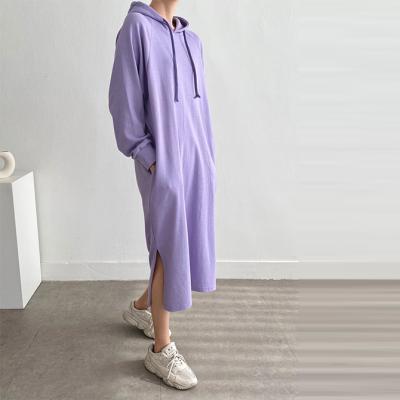 Hood Slit Long Dress