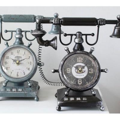 [2HOT] 빈티지 철제 전화기 시계