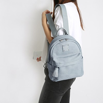 NUEVO CUTE OFFICE LEATHER BACKPACK 큐트 레더 백팩
