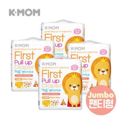 케이맘 처음 팬티기저귀(점보형) 4팩