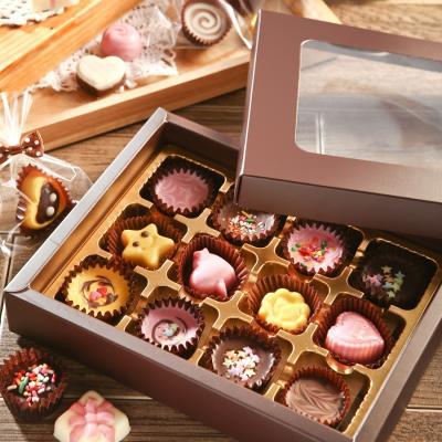초콜릿 만들기 세트 (12구) - 브라운 사각
