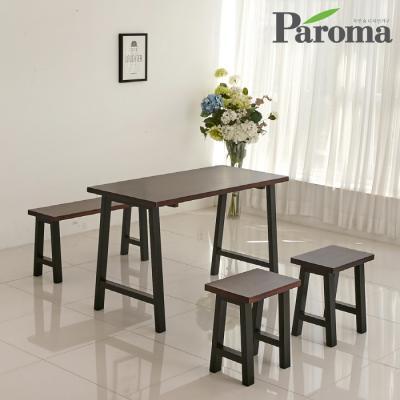 파로마 루갈 4인용 원목 식탁세트 (의자2+벤치1) ET33