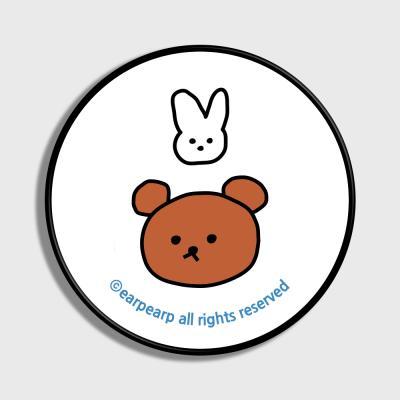 Bear and rabbit-white(스마트톡)