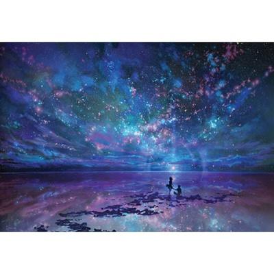 1000조각 목재 직소퍼즐▶ 바다 별 하늘 그리고 너 [WPK1000-13]