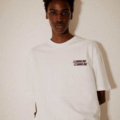 레트로 프린트 티셔츠(남여공용) 화이트