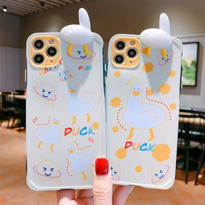 아이폰11 PRO MAX XR 8 SE2 입체 오리 캐릭터 케이스