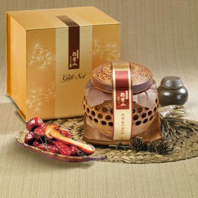 자연산 송이버섯 고추장양념 장아찌 550g(도자기)
