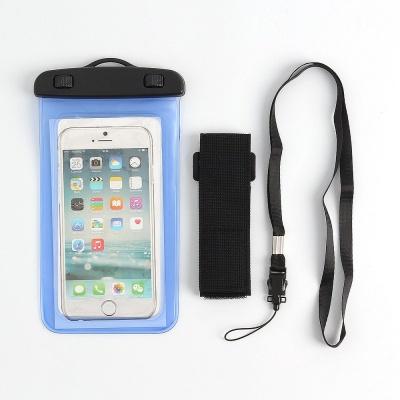 암밴드 스마트폰 방수팩 블루 방수케이스
