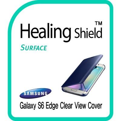 [힐링쉴드] 갤럭시S6 정품 클리어 뷰커버 외부보호필름 전면 1매+후면 1매(HS151190)