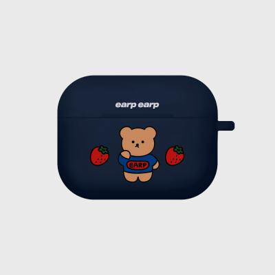 strawberry bear-navy(Air pods pro case)