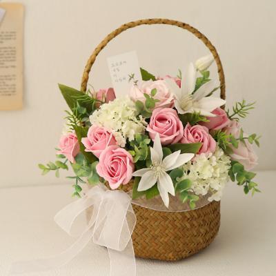 [메세지선택] 클레마티스 비누장미꽃바구니