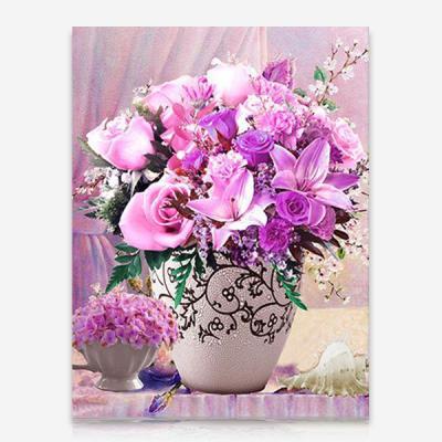 보라색 꽃들의 향연 DIY 보석십자수 십자수 비즈세트