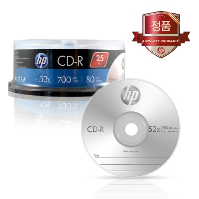 HP CD-R 700MB 25P CAKE 25장 케이크