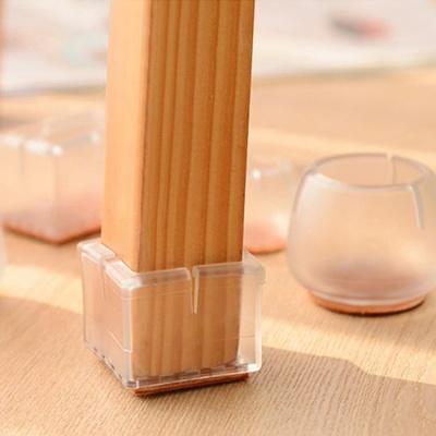 식탁의자 발커버 양말 캡 4size 투명 실리콘 의자발캡