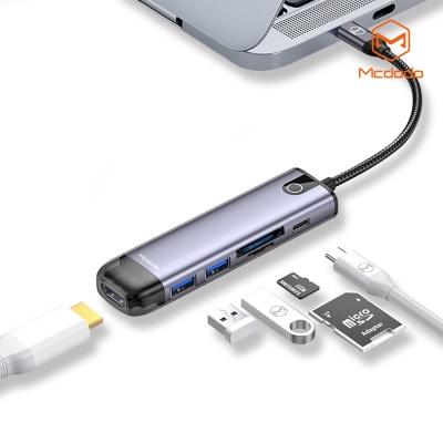맥도도 6 in 1 C타입 USB 멀티 확장 허브 어댑터