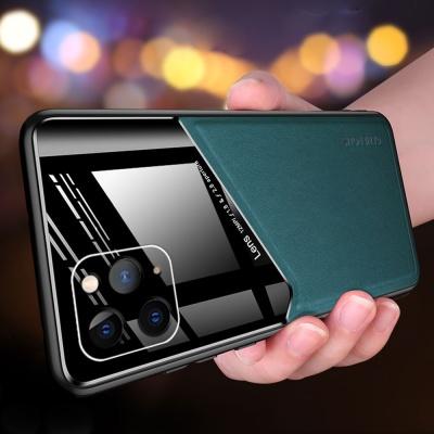 아이폰XR XS MAX X 하프 가죽 강화유리 하드 폰케이스