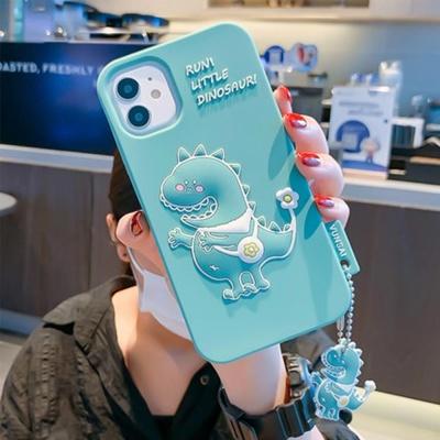 아이폰11 PRO SE2 8 7 입체 공룡 실리콘 키링 케이스