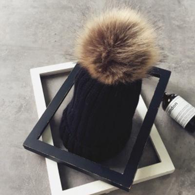 겨울 방울 털모자(블랙)