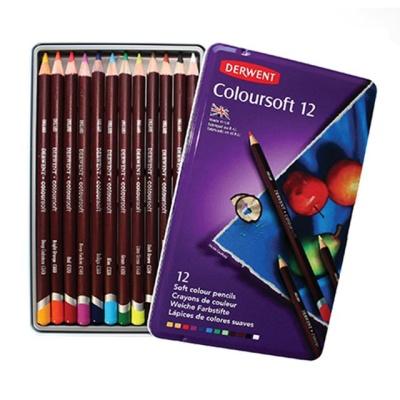더웬트 칼라소프트 유성색연필 12색