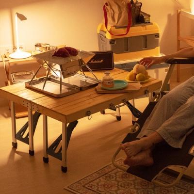 의자까지 일체형 폴딩 캠핑 테이블