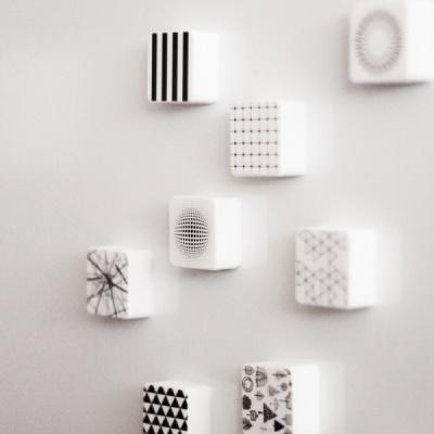 패턴 사각 냉장고 자석 마그넷 홀더 소품