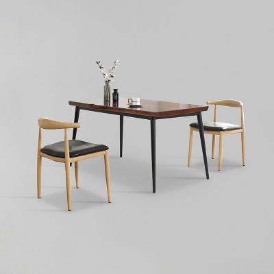 가벤 원목 철제 식탁 세트B 1400 + 의자 2개포함 (착