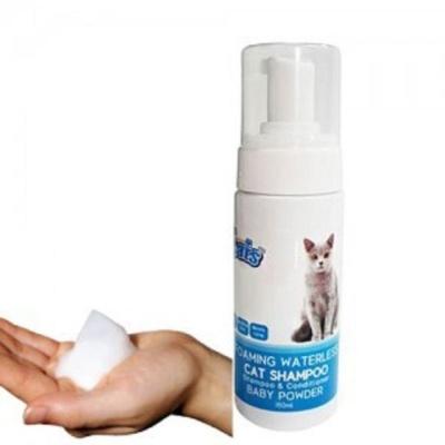 고양이 캣 거품 목욕 샴푸 150ml 베이비파우더향