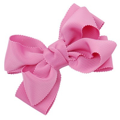 [헤어보우]Double ribbon 헤어핀-핑크(HB110083-1)