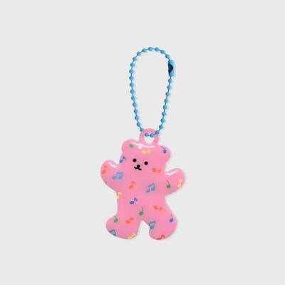 Music bear-pink(PVC키링)