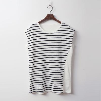 Linen Stripe Cap Tee - 민소매