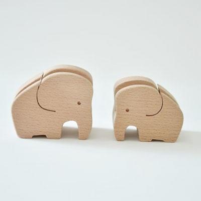 [CARPENTER] ELEPHANT COUPLE PHOTO FRAME