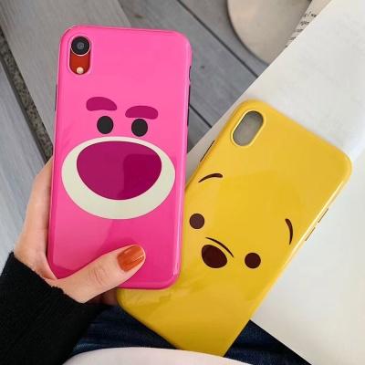 아이폰 귀여운 커플 곰 캐릭터 젤리 휴대폰 케이스
