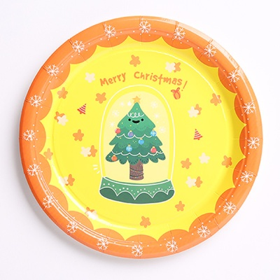 크리스마스 파티접시 18cm (10개입) 트리