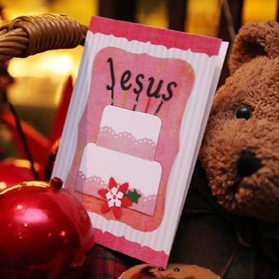 하베스터 크리스마스 카드 - 행복한 케익