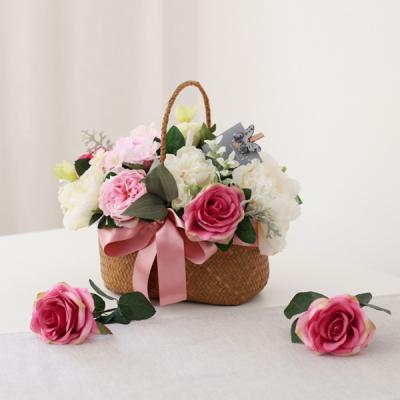 프린세스 핑크로즈 꽃바구니