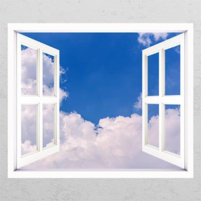 ce848-화창한하늘과구름_창문그림액자
