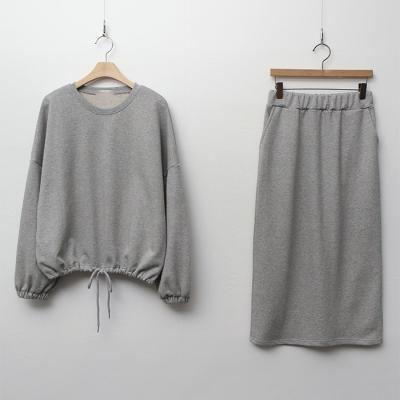 [Set] Nuts Sweatshirt + Long Skirt